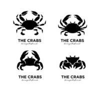 définir un modèle de vecteur de conception de logo de crabe simple illustration vectorielle de conception moderne