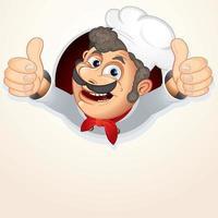 conception de chef de restaurant vecteur