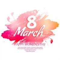 Happy Women's Day célébration élégante conception de cartes de voeux vecteur
