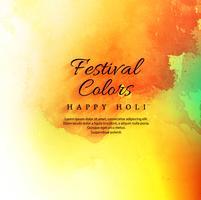 Fond coloré joyeux holi festival célébration vecteur