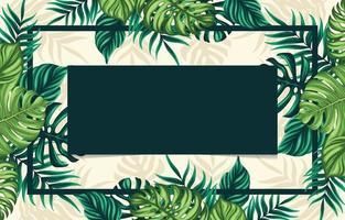 fond de feuilles florales tropicales vecteur