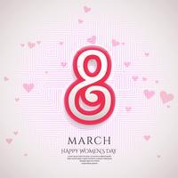 Affiche internationale de la journée de la femme. Vecteur d'origami à 8 chiffres