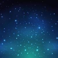 nuit qui brille fond de ciel étoilé vecteur