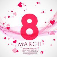 Affiche internationale de la journée de la femme. 8 origami design vecteur
