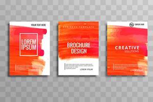 ensemble de brochures commerciales modernes vecteur