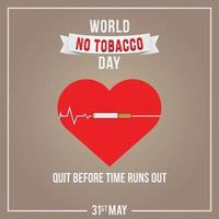 illustration vectorielle de la journée mondiale sans tabac vecteur