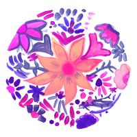 Abstrait décoratif floral aquarelle vecteur
