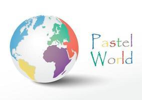 monde global avec des couleurs pastel vecteur