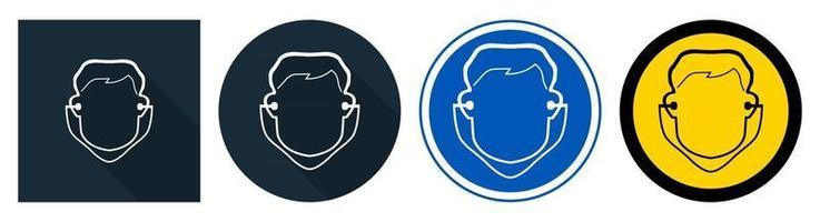 symbole porter signe de bouchon d'oreille vecteur