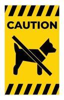 pas de symbole de chiens vecteur