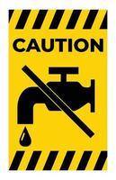 Aucun signe de robinet d'eau sur fond blanc vecteur