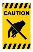 ne pas toucher, ne pas toucher vecteur