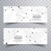 Modèle d'en-tête abstrait polygone créatif vecteur