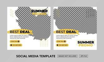 modèle de publications sur les réseaux sociaux vecteur