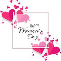 8 mars, conception de la Journée internationale de la femme sur fond de cœur vecteur