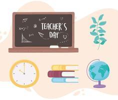 tableau noir de la journée des enseignants vecteur