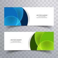 Bannière abstrait design, en-têtes de site Web de vecteur
