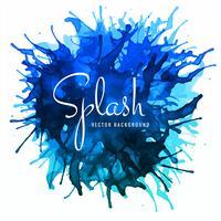 Fond bleu magnifique splash aquarelle doux coloré vecteur