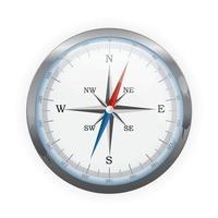 icône de direction de la boussole pour la conception web vecteur