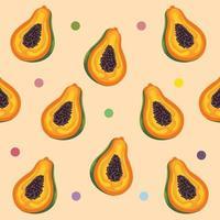 papaye fruits tropicaux vecteur
