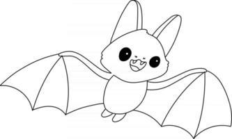 Coloriage pour enfants chauve-souris idéal pour un livre de coloriage pour débutant vecteur