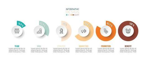 modèle d & # 39; infographie de concept d & # 39; entreprise avec option de pourcentage vecteur