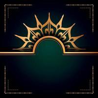 style arabesque de fond de logo de mandala ornemental de luxe vecteur