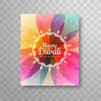 Brochure de design lumineux moderne coloré diwali vecteur