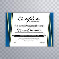 Modèle de prime de certificat vecteur