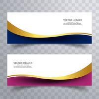 Abstrait web design bannière ou en-tête modèles avec w vecteur