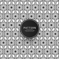 Motif géométrique abstrait avec dessin de rayures vecteur