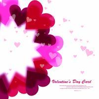 Carte de Saint Valentin abstraite magnifique coeurs colorés backgrou vecteur
