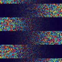 Vecteur de fond élégant abstrait points colorés