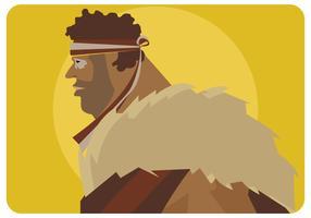Vecteur homme indigène