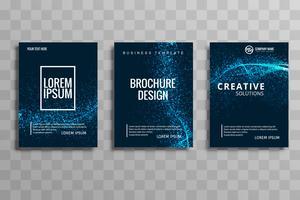 Brochure commerciale de vague de paillettes élégant abstrait défini vectoriel desig