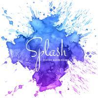 abstrait main dessiné fond coloré splash aquarelle vecteur