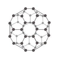 modèle de molécule de science vecteur