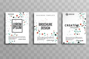 Illustration de conception flyer brochure abstraite molécules vecteur