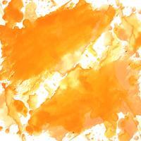 fond aquarelle orange moderne vecteur