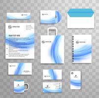 Modèle de papeterie d'entreprise abstraite classique d'identité d'entreprise vecteur