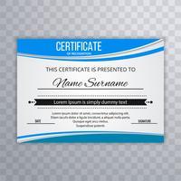 Brevet Certificat Premium avec diplôme de vague avec illustrati vague vecteur