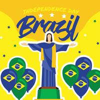 Conception de vecteur de fête de l'indépendance du Brésil