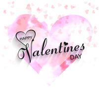 Illustration de conception magnifique coeur Saint-Valentin vecteur