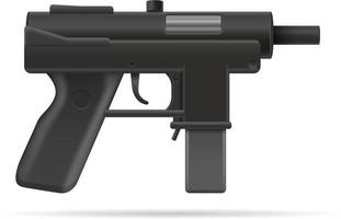 Illustration de vecteur stock d'armes de mitraillette mitrailleuse isolé sur fond blanc