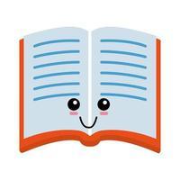 livre mignon dessin animé vecteur