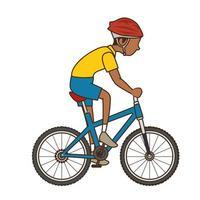 homme, équitation, vélo, icône vecteur