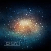 Fond de la galaxie spatiale avec nébuleuse, poussière d'étoile et brillant vecteur