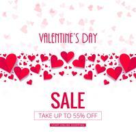 Vecteur de fond vente Saint Valentin moderne