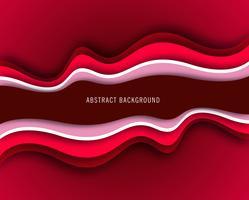 Vecteur de fond abstrait ondulé créatif rouge