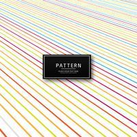 Illustration vectorielle de lignes créatives colorées abstraites